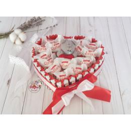 Сладкий подарок «Сердце с мишкой» (СП001)