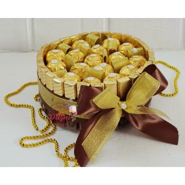 Сладкий подарок «Изысканный торт» из конфет (Арт.СП002) (СП002) фото 1
